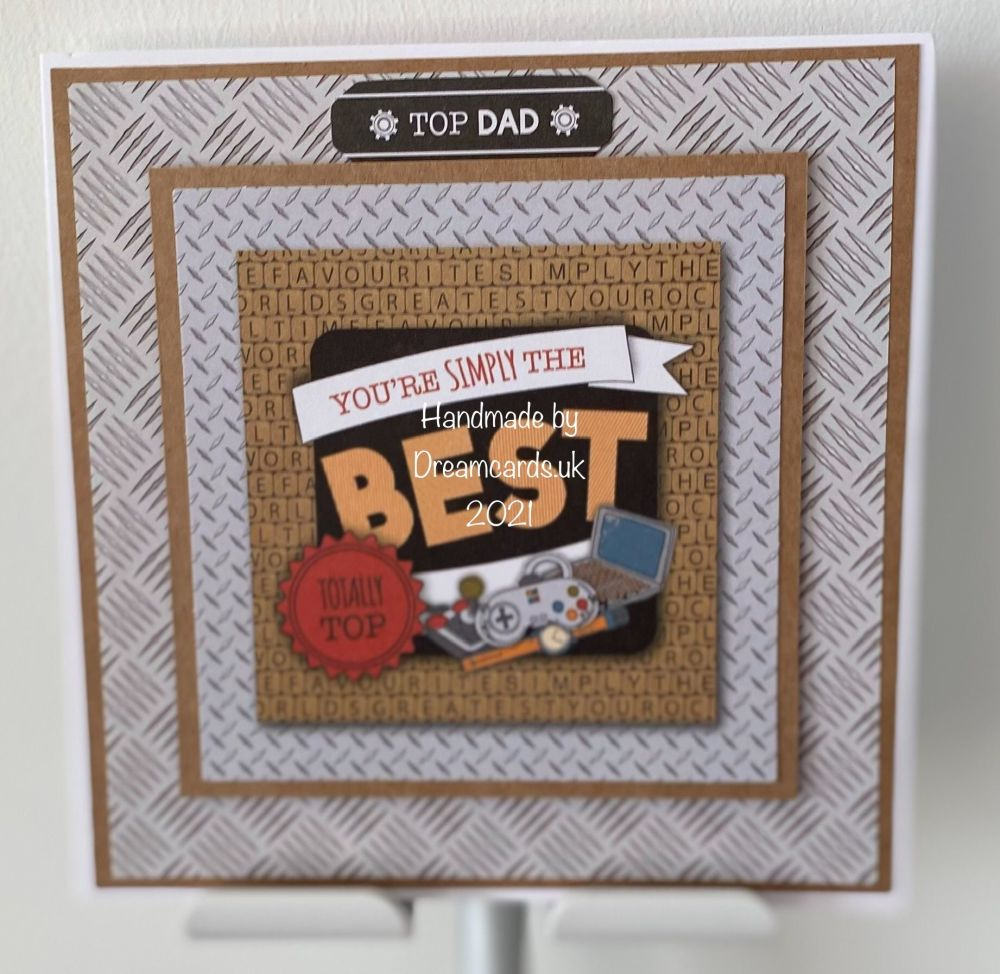 New Product 6 X 6 HANDMADE FATHER'S DAY CARD-YOU'RE SIMPLY THE BEST