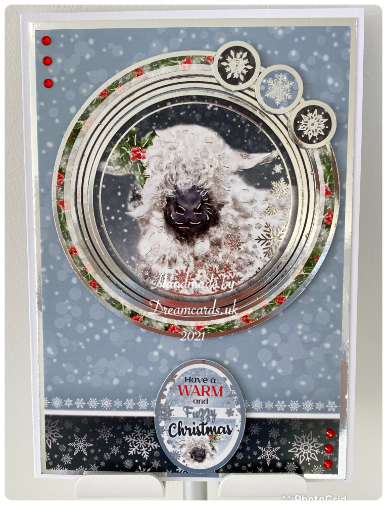 New Product A5 Handmade Christmas card-Have a warm and fuzzy Christmas