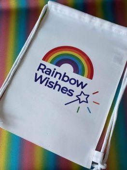 Rainbow Wishes Drawstring Bag