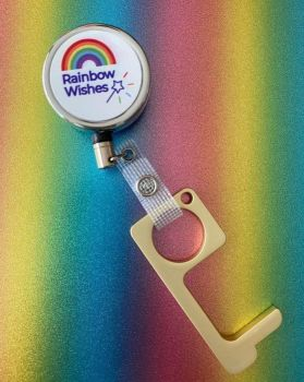 Rainbow Wishes No Contact Metal Door Opener/Button Press