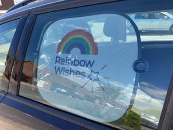 Pair of Rainbow Wishes Car Sun Shades