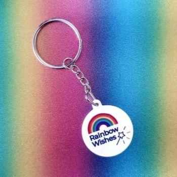 Rainbow Wishes Keyring