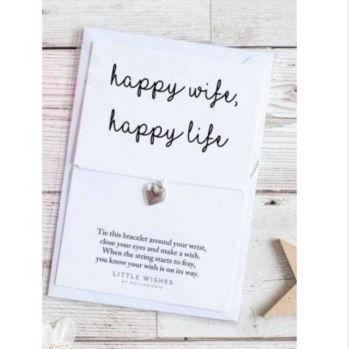 Wish Bracelet - Happy Wife, Happy Life