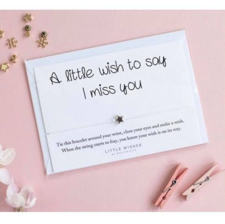 Wish Bracelet - A Little Wish To Say I Miss You