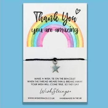 Wish Strings Bracelet - Thank You ... Rainbow