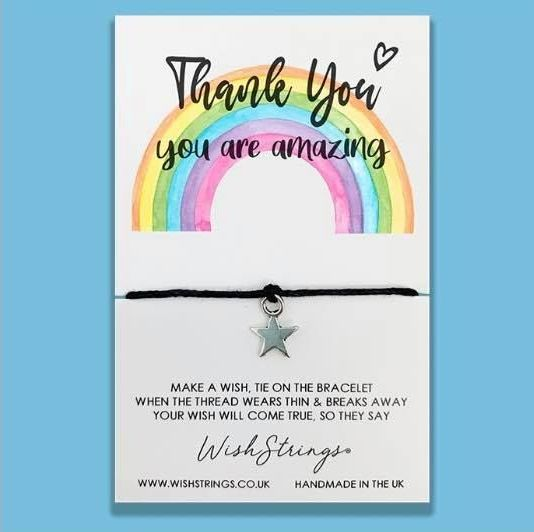 Wish Strings Bracelet - Thank You ... Rainbow
