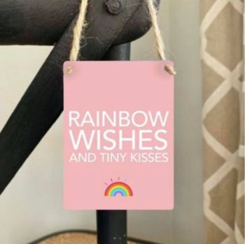 Metal Sign - Rainbow Wishes and Tiny Kisses