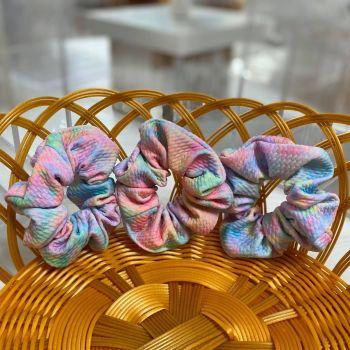 Pastel Tie Dye Fabric Hair Scrunchie