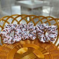 Rainbow Fabric Hair Scrunchie