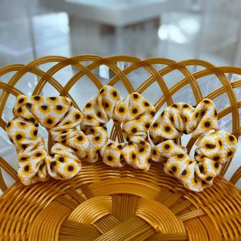 Sunflower Fabric Hair Scrunchie