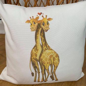Giraffe Cuties Cushion