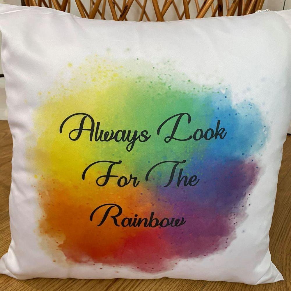 Always Look For The Rainbow Cushion