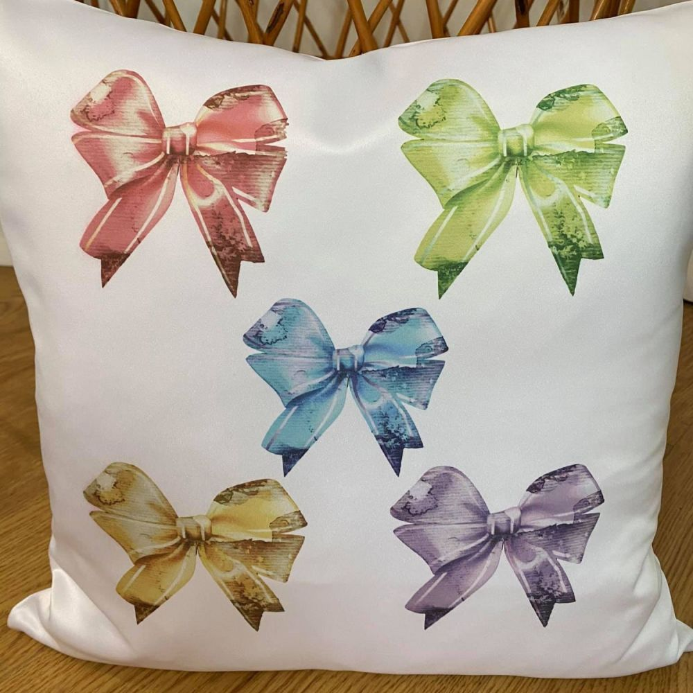 Colourful Bows Cushion