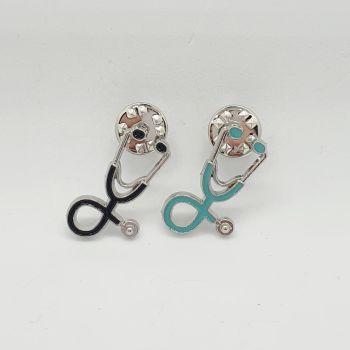 Stethoscope Pin Badge