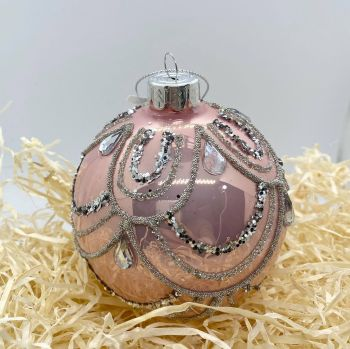 Blush Pink Glass Bauble 001