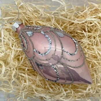 Blush Pink Glass Bauble 003