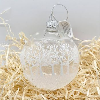 Christmas Scene Glass Bauble