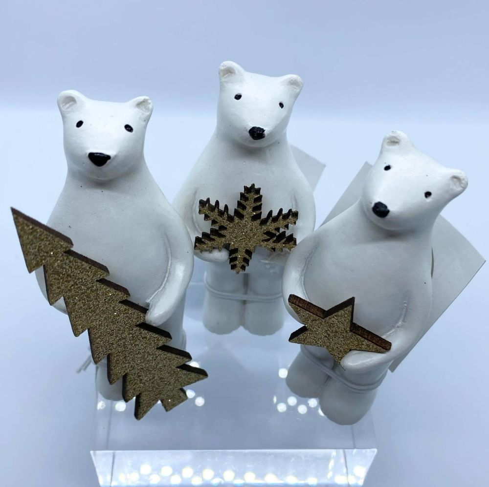 White Resin Bear