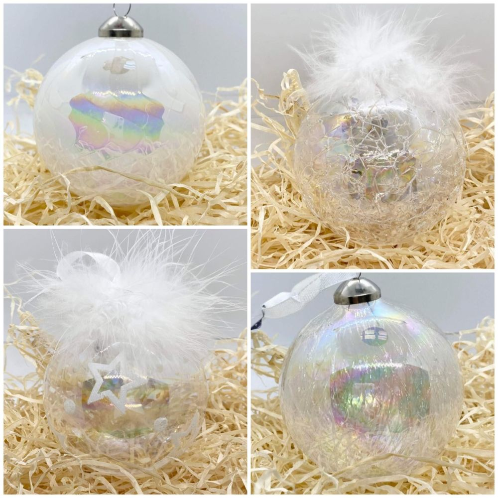 Glass Iridescent Bauble