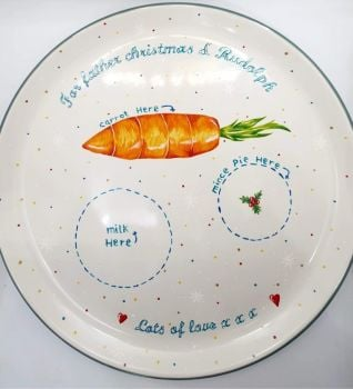 Ladybird Designs 'Snacks for Father Christmas & Rudolph' Plate