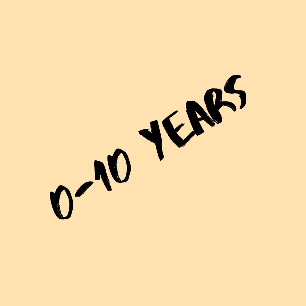 0-10 years