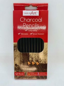 Charcoal Pencils - 12 pack