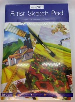 A4 Artist Sketch Pad - 60 Sheet