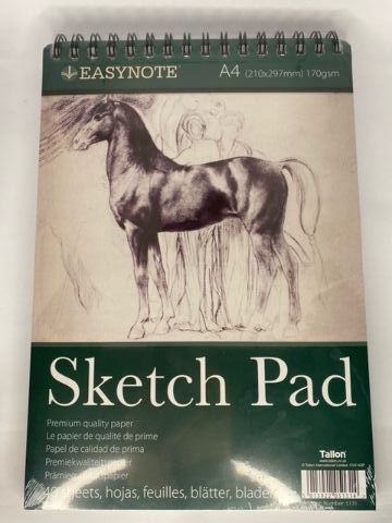 A4 Artists Easynote Sketch Pad - 40 Sheet