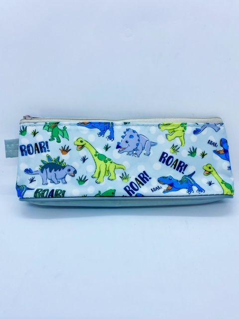 Dinosaur Pencil Case - Light Blue