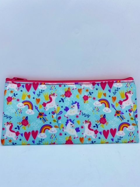 Unicorn Pencil Case - Aqua