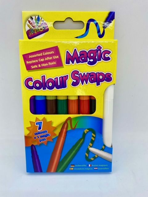 Magic Colour Swap Fibre Pens - Pack of 8