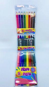 24 Piece Colouring Set