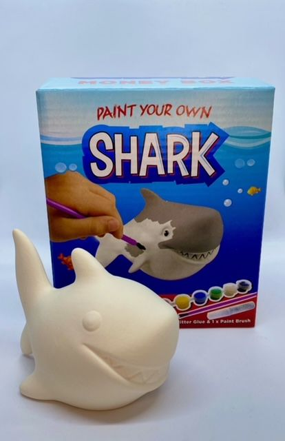Paint Your Own Money Box - Shark