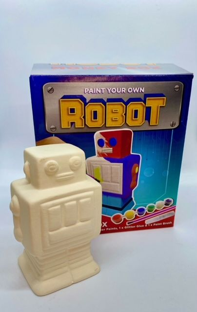 Paint Your Own Money Box - Robot