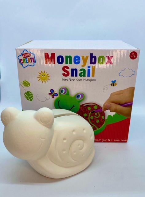 Paint Your Own Money Box - Snail