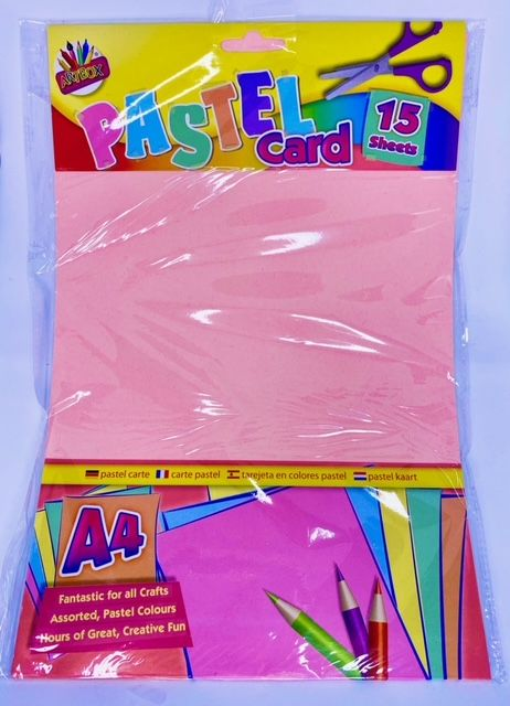 A4 Pastel Card - 15 Sheets