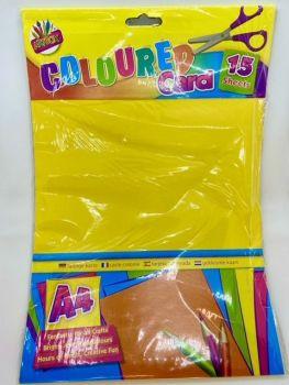 A4 Coloured Card - 15 Sheets