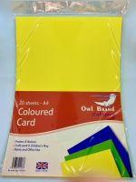 A4 Coloured Card - 20 Sheets