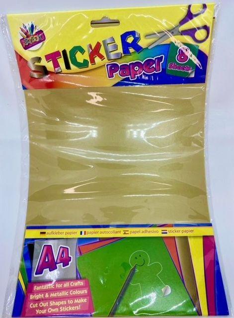 A4 Sticker Paper - 8 Sheets