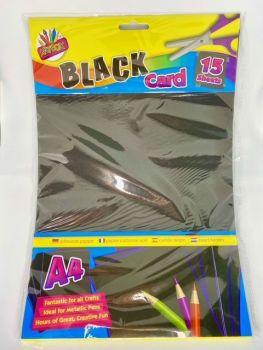 A4 Black Activity Card - 15 Sheets