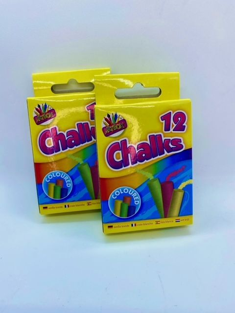 Coloured Chalks - 12 pack