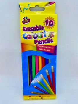 Erasable Coloured Pencils - Pack of 10