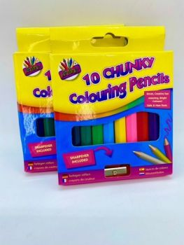 Chunky Colouring Pencils - Pack of 10