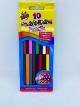 Double Ended Colouring Pencils - Pack of 10