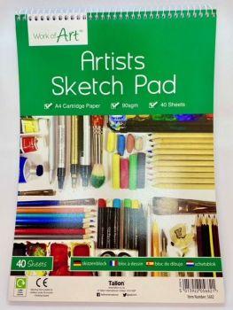 A4 Sketch Pad - 40 Sheet