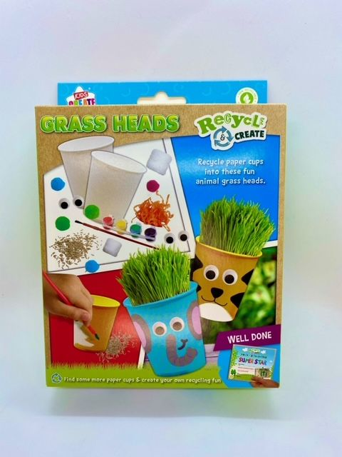 Recycled Grass Heads