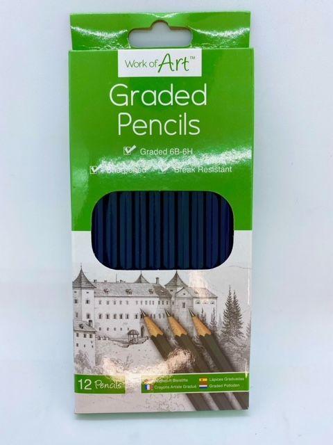 Graded Sketching Pencils - 12 pack