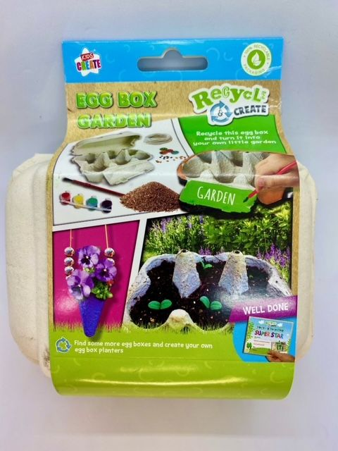 Recycled Grow Your Own Eggbox Garden