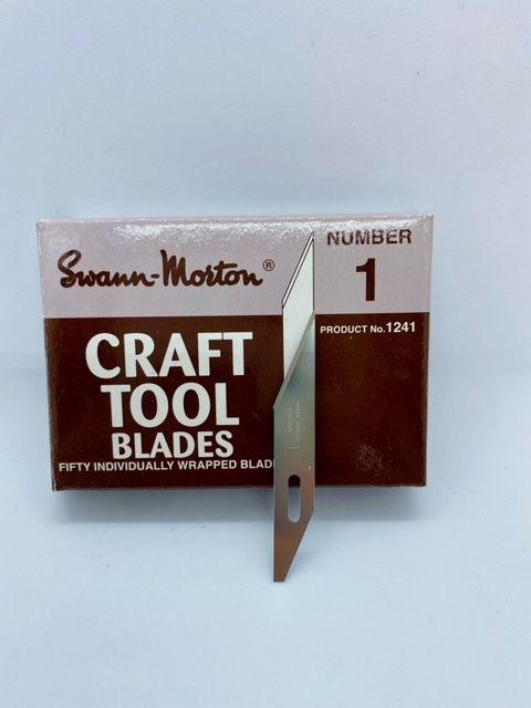 Swann Morton 1241 Craft Tool Blade No.1 B - 50 Pack