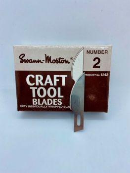 Swann Morton 1242 Craft Tool Blade No.2 B - 50 Pack